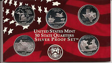 2004 SILVER 50 State Quarters - Dcam Proofs With Box & Authenticity Certificate