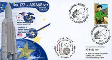 """V177LT2 FDC KOUROU """"ARIANE 5 Rocket - Flight 177 / BSAT-3a / TINTIN"""" 2007"""