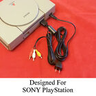AV Cable & AC Power Adapter Cord COMBO SET for Sony Playstation 1 PS1