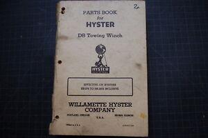 HYSTER D8 Tractor Dozer Crawler Winch Parts Manual maintenance CATERPILLAR CAT
