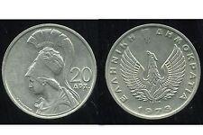 GRECE  20 drachmai 1973   ( bis )