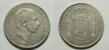 ESPAÑA.SPAIN. ALFONSO XII. ALPHONSE XII   50 CENTAVOS DE PESO 1881 MANILA.  MBC+