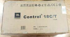 """(2) JBL Control 18C/T- White 8"""" 70v Commercial Black Ceiling Speakers"""
