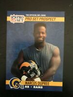 1990 Pro Set Football Card #762 - Marcus Dupree - Los Angeles Rams