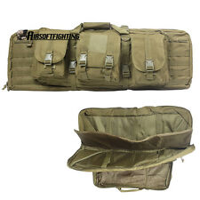 """Tactical 39"""" Padded Double Carbine Rifle Weapons Gun Case Bag Tan for 385"""