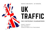 UNLIMITED UK visitors to your website for one month! Increase your traffic flow!