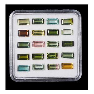 VVS 20 Pcs Natural Tourmaline 5.8mm-6mm Baguette Cut Top Quality Gemstones Lot