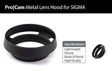 Metal Lens Hood for SIGMA 19mm 30mm 60mm F2.8 DN EX lens NEW