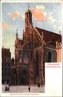 Nürnberg Bayern Bavaria um 1900 Partie a.d. Frauenkirche Kirche Verlag Schardt