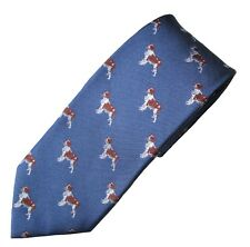 Brittany Necktie Dog Breed Animal Woven Silk Mens Attire Clothing Accessory Tie