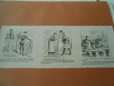 Caricature 1891 - Venir en Vélocipède femme devant les juges