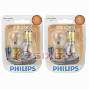 2 pc Philips Brake Light Bulbs for Chrysler 300 Imperial Nassau New Yorker xp
