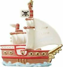 """âš"""" Lenox My Pirate Ship Ahoy There Christmas Ornament New âš"""""""