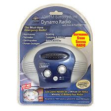 NO BATTERY RADIO AM/FM SIREN FLASHLIGHT HURRICANE Emergency