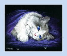 Ragdoll Gato impresión Lazy Caza Por Irina garmashova