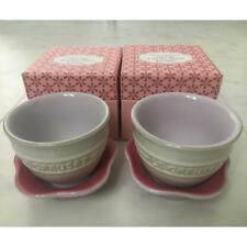 New Le Creuset Teacup & Saucer Set of 2 Pink Blossom From Japan w/tracking