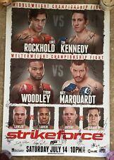 LUKE ROCKHOLD -VS- TIM KENNEDY! STRIKEFORCE/UFC! SIGNED POSTER! JORGE MASVIDAL!!