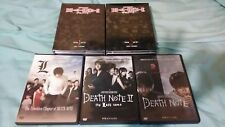 Death note DVD box set and movie collection with Death note black book and pen.