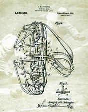Baseball Cacthers Mask Patent Poster Art Print Antique Gloves Shoes Bat PAT58