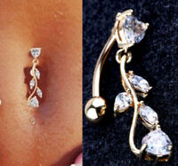 Hot Rhinestone Dangle Button Barbell Bar Belly Navel Body Piercing Ring Jewelry