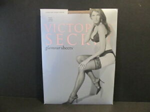 Victoria's Secret Lace Top Thigh Highs Stockings Nude, Nylon Glamour Sheers L