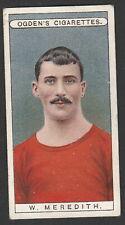 More details for 1908 ogden's famous footballers card # 3 billy meredith manchester utd