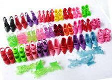 10 pcs Shoes Fun Mix PVC Boots Kids Cute Toy Random Different For Barbie Doll j