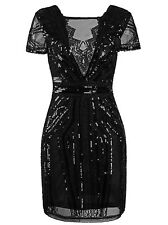 1920s Flapper Dress Short Prom Dresses V Neck Back Inspired Sequins Evening Gown