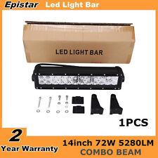 Epistar 14inch 72W Spot&Flood Combo LED Work Light Bar Offroad Jeep SUV ATV UTE
