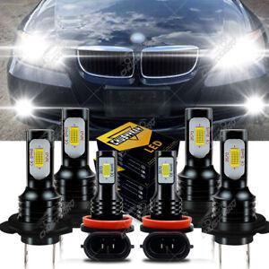 For BMW 328i 325xi 330xi 2002 2003-2006 Combo LED Headlight+Fog Light Bulbs Kit