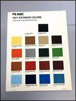 1977 AMC Color Paint Guide Car Brochure Sheet - Gremlin Pacer Hornet Matador
