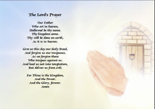 Printed Poem - The Lords Prayer on beautiful background