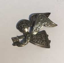 James Avery Sterling Silver Singing Angel Choir Christmas Carol Pin Brooch