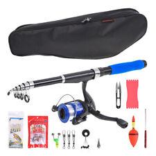 Fishing Rod and Reel Combo Telescope Rod Saltwater Fishing Lure Line Swivel Kit