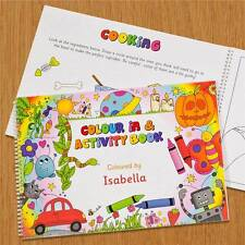 Personalised A4 Colouring Book Gift For Children/Kids/Boys/Girls/Birthday/Childs