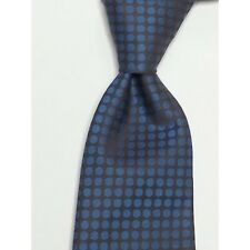 "Eton Dress Tie 2.75"" wide 61"" long Blue Cotton Made in Italy"
