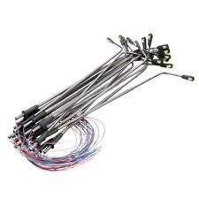 LOT de 10 LAMPADAIRES de VILLE HO ou O Hauteur 110mm à LED 12V avec R 510 Ω NEUF