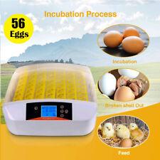56 Digital Egg Incubator Egg Hatcher Automatic Turner Poultry Chicken Bird Duck/