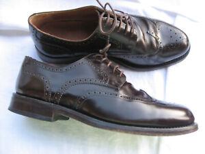 PRIME SHOES BUDAPESTER Business Herrenschuhe Schuhe ECHT LEDER Gr. 81/2 braun