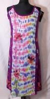Fair Trade Tie Dye Dress Strappy Soft Cotton Festival Beach Boho Hippy size XL