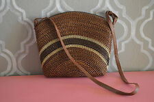 Yan Lipao Brown Cross Body Bag Handmade Handbag Unique Holiday Gift