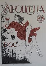 """VALPOLICELLA D.O.C."" Affiche originale italienne entoilée Milo MANARA 2006"