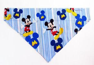 Mickey Mouse Dog Bandana, Over the Collar dog bandana Dog collar bandana puppy