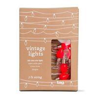 Tag Vintage Bulbs Led String Lights, Red