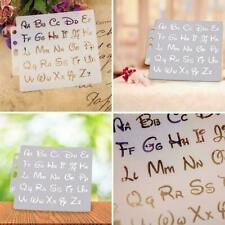 Alphabet Letter Stencils Template Painting Scrapbooking Card Album DIY Embo X3T3