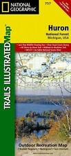 Huron National Forest, MI - (Nat Geo) Illustrated Trails Map #757