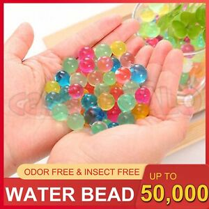 Up to 50000+ Orbeez Water Gel Beads Jelly Balls Crystal Soil for Vases Wedding