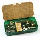 Vintage Langley Reel Parts Assortment Case with Lots of Assorted Parts, Read