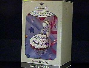QEO8473 1998 Sweet Birthday World of Wishes Spring/Easter- 1998 Hallmark