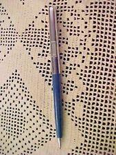 Vintage Autopoint Pencil Blue Barrel Chrome Top Caterpillar Adv 0.5 mm Lead